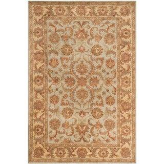 Safavieh Handmade Heritage Timeless Traditional Green/ Gold Wool Rug (6' x 9')
