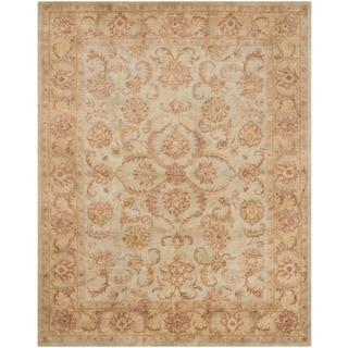 Safavieh Handmade Heritage Timeless Traditional Green/ Gold Wool Rug (7'6 x 9'6)