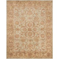 Safavieh Handmade Heritage Timeless Traditional Green/ Gold Wool Rug - 7'6 x 9'6