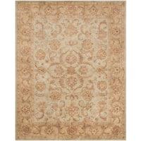 Safavieh Handmade Heritage Timeless Traditional Green/ Gold Wool Rug - 8'3 x 11'