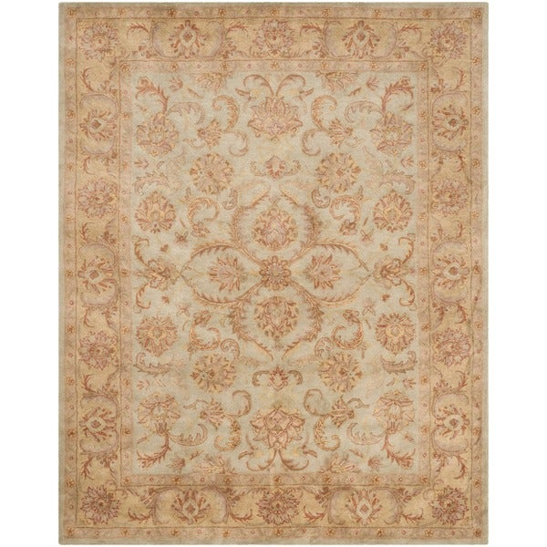 Safavieh Handmade Heritage Timeless Traditional Green/ Gold Wool Rug (8'3 x 11')