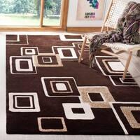 "Safavieh Handmade Soho Gala Modern Abstract Brown/ Beige Wool Rug - 3'6"" x 5'6"""