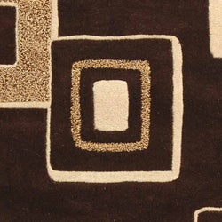 Safavieh Handmade Soho Gala Modern Abstract Brown/ Beige Wool Rug (5' x 8') - Thumbnail 1