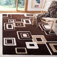 Safavieh Handmade Soho Gala Modern Abstract Brown/ Beige Wool Rug - 5' x 8'