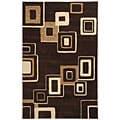 Safavieh Handmade Soho Gala Modern Abstract Brown/ Beige Wool Rug - 7'6 x 9'6