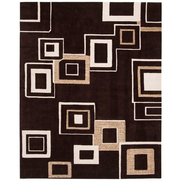 "Safavieh Handmade Soho Gala Modern Abstract Brown/ Beige Wool Rug - 7'6"" x 9'6"""