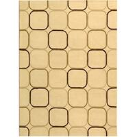 Safavieh Handmade Soho Elipse Ivory New Zealand Wool Rug - 5' x 8'