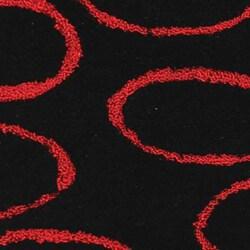 Safavieh Handmade Soho Eclipse Black/ Red N. Z. Wool Runner (2'6 x 8') - Thumbnail 1