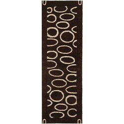 Safavieh Handmade Soho Eclipse Brown/ Ivory N. Z. Wool Runner (2'6 x 12')