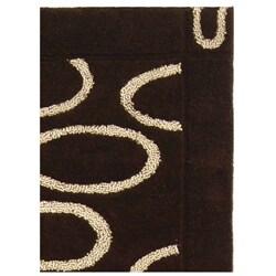 Safavieh Handmade Soho Eclipse Brown/ Ivory N. Z. Wool Runner (2'6 x 8') - Thumbnail 2