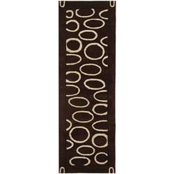 Safavieh Handmade Soho Eclipse Brown/ Ivory N. Z. Wool Runner (2'6 x 8')