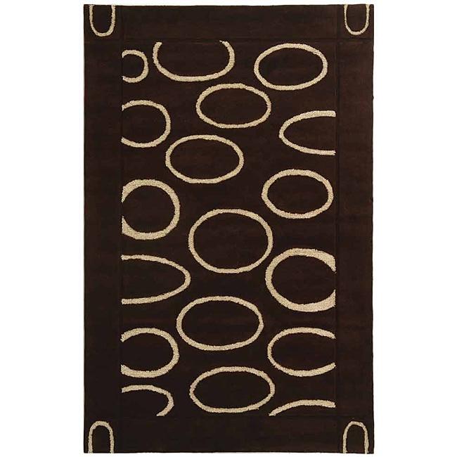 Safavieh Handmade Soho Eclipse Brown/ Ivory New Zealand Wool Rug (5' x 8')