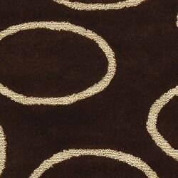 Safavieh Handmade Soho Eclipse Brown/ Ivory New Zealand Wool Rug (5' x 8') - Thumbnail 1