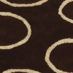 Safavieh Handmade Soho Eclipse Brown/ Ivory N. Z. Wool Rug (7'6 x 9'6) - Thumbnail 1