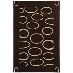 Safavieh Handmade Soho Eclipse Brown/ Ivory N. Z. Wool Rug (7'6 x 9'6)