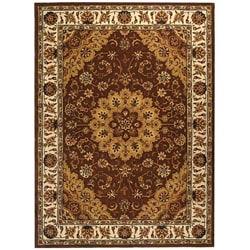 Safavieh Handmade Traditions Tabriz Tan/ Ivory Wool and Silk Rug (6' x 9')