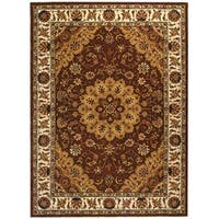 Safavieh Handmade Traditions Tabriz Tan/ Ivory Wool and Silk Rug - 6' x 9'