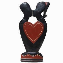 Handmade 'Heart to Heart' Carving (Ghana)