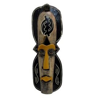 Handcrafted 'Gye Nyame' Mask, Handmade in , Handmade in Ghana