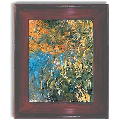 Claude Monet 'Iris, 1914-1917' Framed Canvas Art