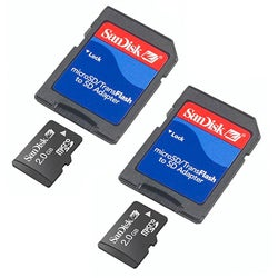 SanDisk 2GB Micro SD Memory Card (Case of 2)