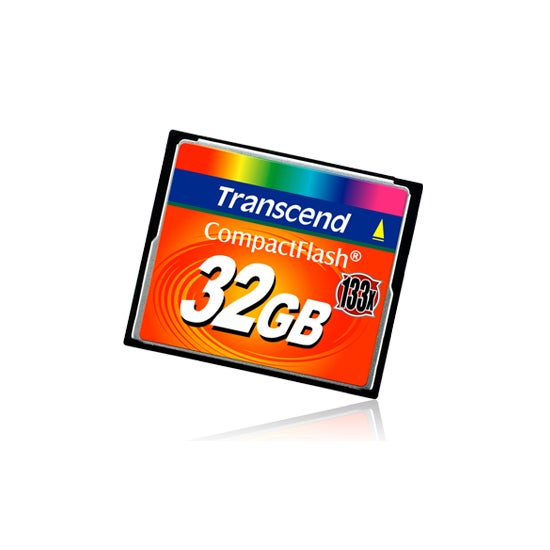 Transcend 32GB 133X Compact Flash Memory Card - Thumbnail 1