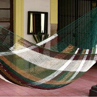 Handmade Mother Earth Large Deluxe Hammock (Mexico)