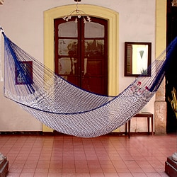 Handmade Ocean Waves Large Deluxe Hammock (Mexico)