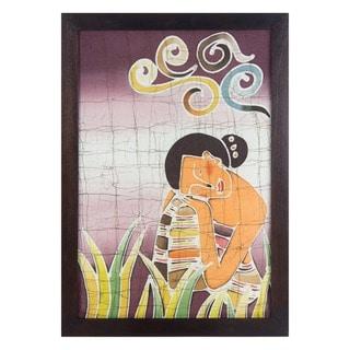 "Batik Cotton Wall Art, ""Daydreams"""