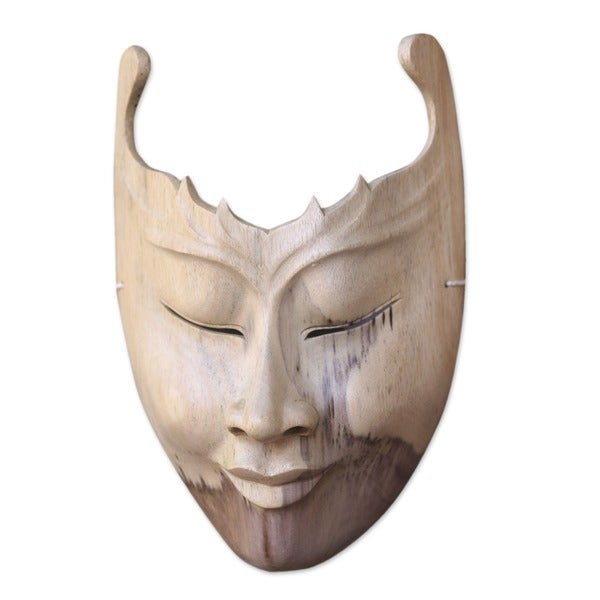 Handmade Wood 'Cutout' Mask (Indonesia)