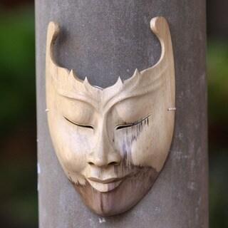 Handmade Wood 'Cutout' Mask (Indonesia)