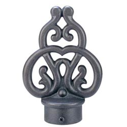 Rustica Scroll Finial 8-foot Drapery Rod Set