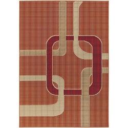 Artist's Loom Indoor/Outdoor Contemporary Geometric Rug (5'2 x 7'5) - Thumbnail 0