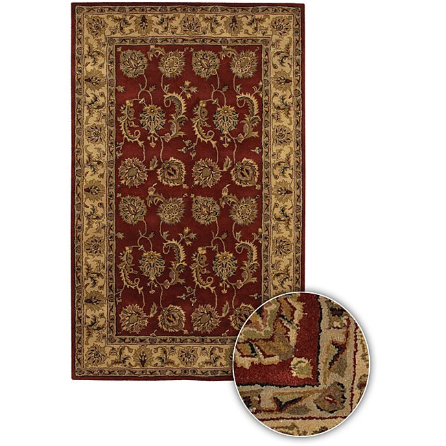 Artist's Loom Hand-tufted Traditional Oriental Wool Rug - 5'9 Round