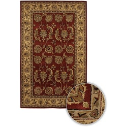 Artist's Loom Hand-tufted Traditional Oriental Wool Rug - 5'9 Round - Thumbnail 0