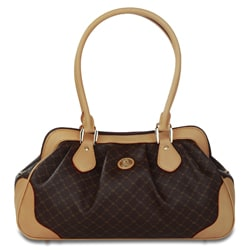 Rioni Signature Brown Satchel Shoulder Handbag