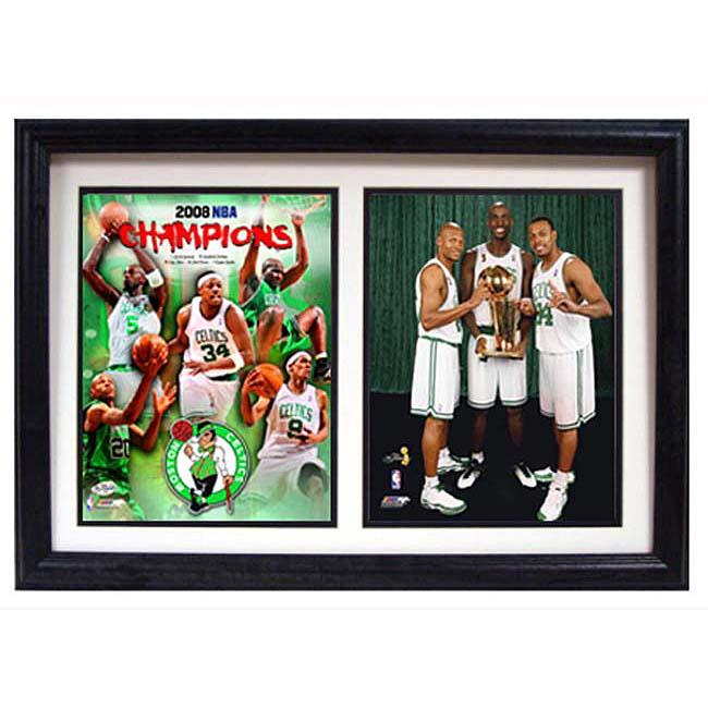 Boston Celtics 2008 Champs/ Big 3 Framed Print