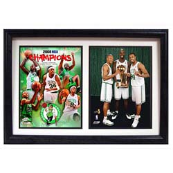 Boston Celtics 2008 Champs/ Big 3 Framed Print