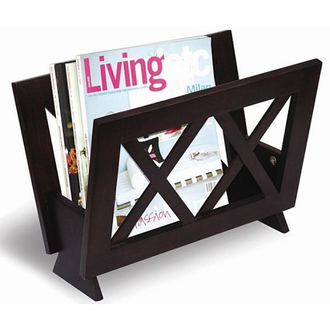 X design wood magazine rack free shipping today for Magazine racks for home