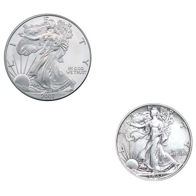American Coin Treasures American Silver Eagle and Walking...