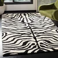 Safavieh Handmade Soho Zebra Ivory/ Black New Zealand Wool Rug - 5' x 8'
