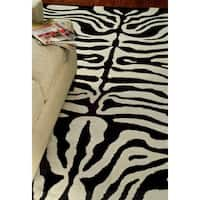 Safavieh Handmade Soho Zebra Ivory/ Black New Zealand Wool Rug - 8'3 x 11'