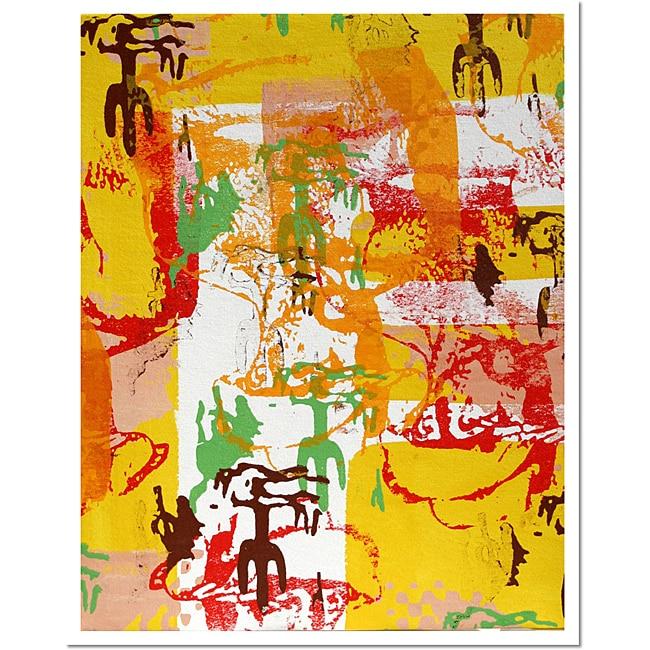 Lazaro Amaral 'Desert Cowboy' Framed Canvas Art