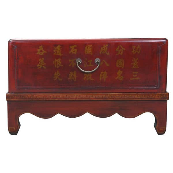 Incredible Shop Handmade Hand Painted Oriental Coffee Table Red Bralicious Painted Fabric Chair Ideas Braliciousco