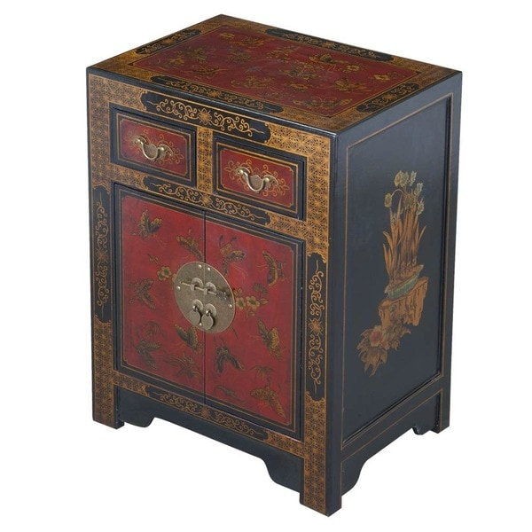 Exceptional Handmade Oriental End Table   Black (China)