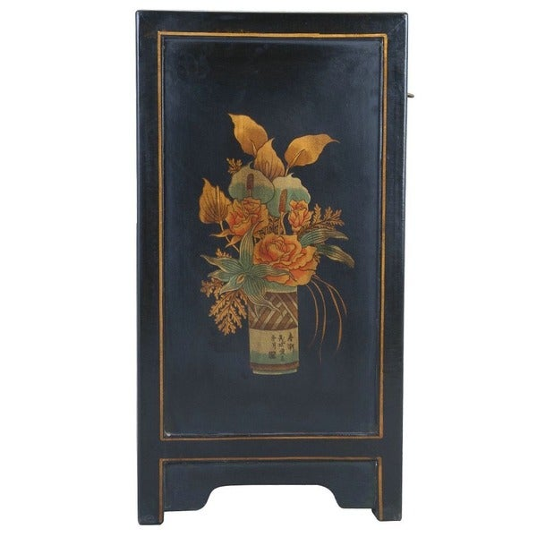 Handmade Oriental End Table   Black (China)   Free Shipping Today    Overstock.com   11366961