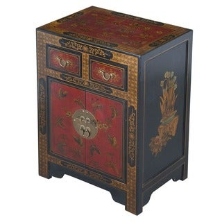 Handmade Oriental End Table - Black (China)