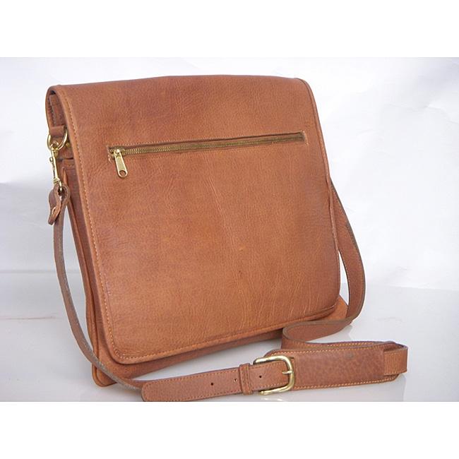 Aston Slim Leather Professional Weather-resistant Messenger Bag ...
