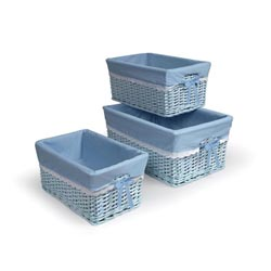 Blue Three Basket Set with Liners