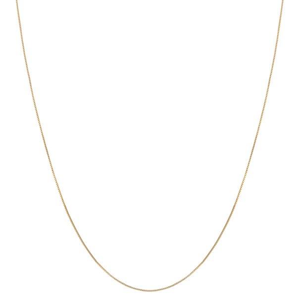 Fremada 10k Yellow Gold Box Chain (18-inch)